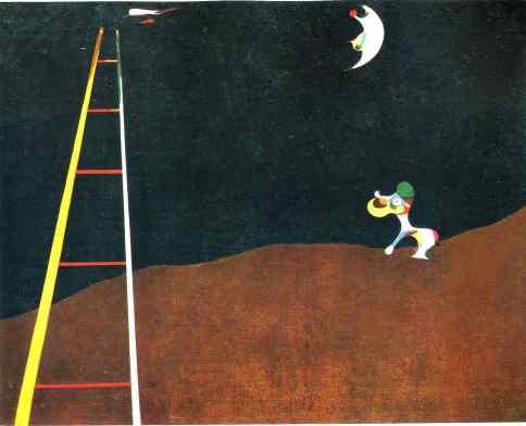 Resultat d'imatges de joan miro dog barking at the moon 1926